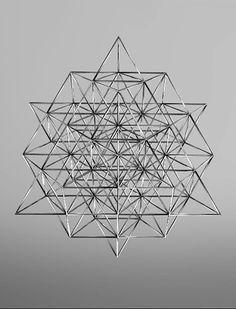 is the fewest number of tetrahedrons you need to form 2 octaves of perfectly balanced geometry. what Buckminster Fuller called the Vector equilibrium. 64 codons in human DNA Geometric Designs, Geometric Shapes, Yi King, Instalation Art, Modelos 3d, Minimalist Decor, Minimalist Kitchen, Minimalist Interior, Minimalist Living