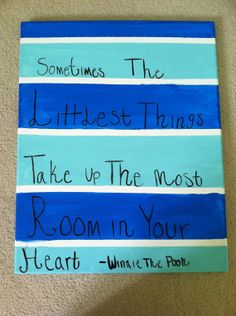 Custom Made Winnie The Pooh Quote Painted Canvas Kids Nursery Striped Sorority Big Little  on Etsy, $12.00
