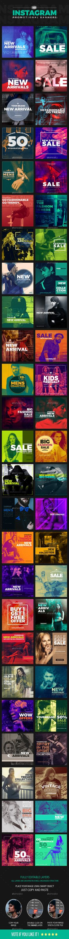 50 Duotone Instagram Banners — Photoshop PSD #hype #photographer • Download ➝ https://graphicriver.net/item/50-duotone-instagram-banners/20352765?ref=pxcr