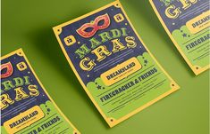Mardi Gras Flyer by Tokosatsu on @creativemarket