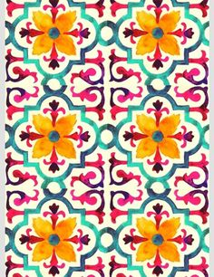 Wonder if this is a wallpaper design? Plakat Design, Motif Floral, Pretty Patterns, Beautiful Patterns, Textile Patterns, Pattern Art, Flower Pattern Design, Batik Pattern, Design Patterns