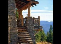 Great view from this log home