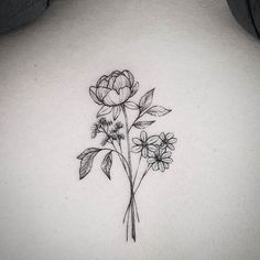 Black And White Flower Tattoo By Littletattoos808 Ready For