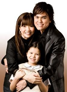Joseph Prince - Awesome man of God; and his beautiful wife, Wendy and daughter, Jessica.