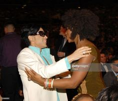 Prince and India.Arie during The Annual GRAMMY Awards - Audience at Staples Center in Los Angeles, California, United States. Get premium, high resolution news photos at Getty Images India Arie, Pictures Of Prince, Prince Images, The Artist Prince, Roger Nelson, Prince Rogers Nelson, Purple Reign, Beautiful Smile, Record Producer