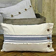 Piper Classics Chambray Grain Sack Stripe Pillow Cover, 12 x Farmhouse Style Diy Pillow Covers, Diy Pillows, Linen Pillows, Couch Pillows, Decorative Pillow Covers, Linen Bedding, Throw Pillows, Bedding Sets, Pillow Inserts