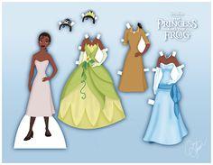 Bonecas de Papel Para Vestir Princesas e Príncipes Disney