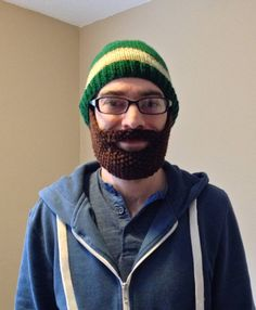 495029c4bb6 DIY knit beard hat pattern perfect for cold weather days! Full pattern  tutorial and step-by-step photos! Also includes pattern for a simple and  easy hat!