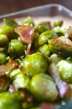 bacon isn't that great for you, but if it's slow cooked and you don't eat it that often, and you're pairing it with brussel sprouts.... Love it!