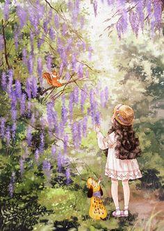(등나무 꽃 Wisteria flowers) 오솔길에서 만난 보랏빛 흐드러지게 핀 등나무 꽃 꽃의 색에 취해 향기에 취해 나도 모르게 한참을 그 아래에 서 있었습니다