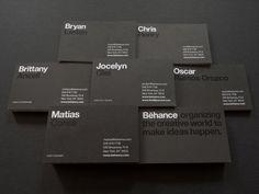Behance Business Cards Design   Abduzeedo Design Inspiration #businesscard #behance #typography