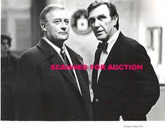 Edward Woodward and Robert Lansing as Robert McCall & Control (The Equalizer)