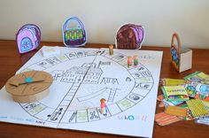 LOVE THIS!!!  create-your-own board game. So many different themes could be used.