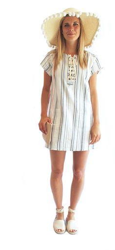 stripe canvas dress
