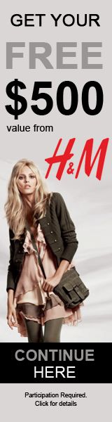 Awesome deal from H&M to WIN a $500 shopping spree Gift Card!