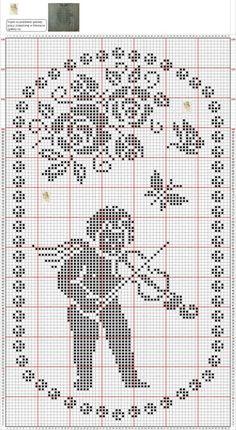 Crochet Angel Pattern, Crochet Angels, Crochet Patterns, Stitch And Angel, Cross Stitch Angels, Filet Crochet Charts, Crochet Stitches, Cross Stitching, Cross Stitch Embroidery