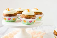 Tropical Carrot Cake Cupcakes with Coconut Cream Cheese Frosting by foodiebride, via Flickr