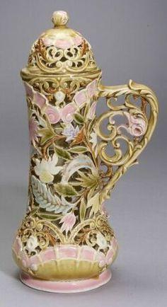 Zsolnay Openwork Ceramic Pitcher