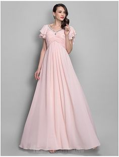 bab14d42d06 Australia Formal Evening Dress Prom Gowns Military Ball Dress Pearl Pink Plus  Sizes Dresses Petite A-line Princess V-neck Long Floor-length Chiffon