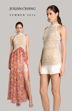 Variety is the spice of life, why not combine ethereal lace with cinnamon-colored print? Julian Chang shows us the most elegant silhouettes with breathtaking hues of summer. Use code JCSUMMER25 for 25% off a purchase, valid 06/6/2016 - 06/16/2016