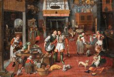 File:Marten van Cleve, attributed to, his studio? - Kitchen interior - Google Art Project.jpg