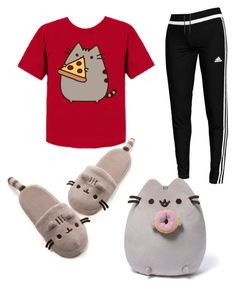"""""""pusheen outfit contest"""" by kalisplayer on Polyvore featuring Pusheen, adidas and Gund"""