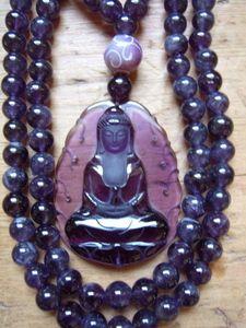 Amethyst Kuan Yin #mala beads