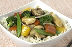 Quick and easy, this tasty stir-fry with chicken and crisp fresh vegetables can be ready in less than 20 minutes.
