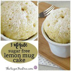This seems like the perfect time to make a Sugar Free 3 Minute Lemon Mug Cake. I am a huge fan of le Banana Mug Cake, Cake Mug, Lemon Mug Cake, Mug Recipes, Sugar Free Recipes, Dessert Recipes, Cake Recipes, Bread Recipes, Keto Recipes