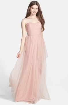 Amsale Draped Tulle Gown