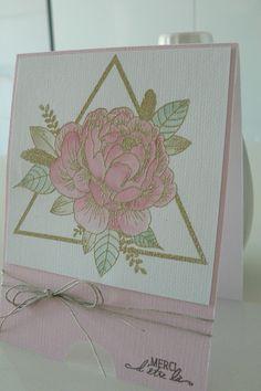 Bonjour, Aujourd'hui,j'ai le plaisir de vousprésenter 3 cartes réalisées avec des nouveaux tampons Florilèges Designdont...