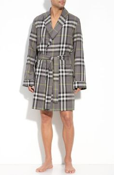 $196 Burberry Check Robe available at Nordstrom
