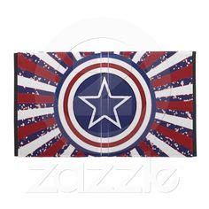 Patriotic Starburst Design iPad Folio Case from Zazzle.com