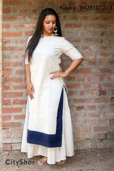 Kurti Kurti Patterns, Dress Patterns, Indian Attire, Indian Wear, Indian Dresses, Indian Outfits, Dress Me Up, I Dress, Kurti Skirt