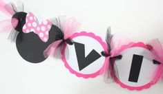 Minnie Mouse Name  Banner in hot pink and by SweetEventsBoutique, $13.00