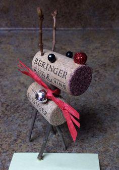 Cork Reindeer with Bell
