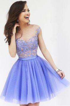 Custom made a line short purple prom dresses, dresses for prom