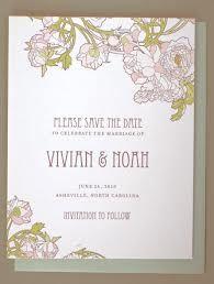 art nouveau wedding stationary - Google Search