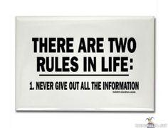 Secret rule in life