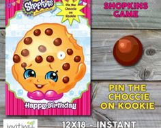 Shopkins Party Game A3 Pin the Candle on by Invitingbyrenee