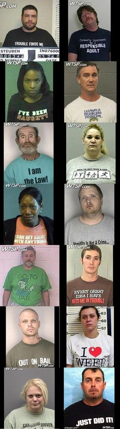Don't wear these shirts if you think you might be arrested. http://now.msn.com/funny-t-shirts-on-mug-shots