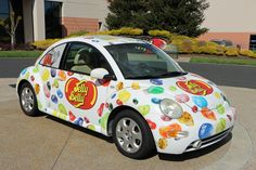 Jelly Belly VW Beetle at the Jelly Belly Factory