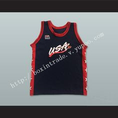 7f81dbe1c 1996 Team USA Dark Blue Basketball Jersey Custom Player and Number