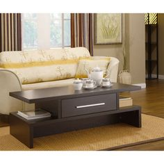 @Overstock - This gorgeous Tepekiie coffee table offers a rich coffee bean finish and an accessible drawer on both sides. The coffee table features a unique design and would be an beautiful accent piece in any living space.http://www.overstock.com/Home-Garden/Tepekiie-Two-side-Open-Coffee-Table/4079436/product.html?CID=214117 $134.99