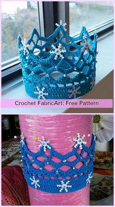 Crochet Royal Crown Free Pattern Quick Crochet, Free Crochet, Knit Crochet, Crochet Crown, Crochet Mask, Crochet Girls, Crochet For Kids, Newborn Crochet Patterns, Crochet Hair Accessories