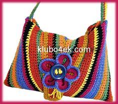 Crochet bag Tutorial ༺✿ƬⱤღ  http://www.pinterest.com/teretegui/✿༻