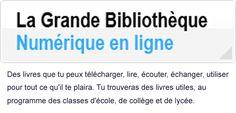 [MAJ 01 juillet 2015 - 11e édition] La Grande Bibliothèque Numérique en ligne...