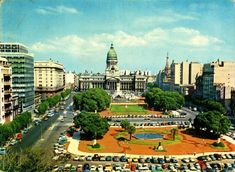 Plaza Congreso. 1968. Plaza, Urban Landscape, Cities, Argentina, Scenery, Pictures, Painting Art