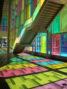 rainbow metro station in montreal  Fancy