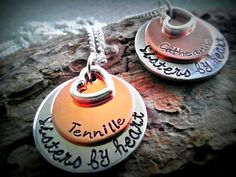 Personalized Best Friends Necklace  Sisters by CharmletteDesigns, $46.00
